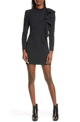 IRO Deteo Ruffle Long Sleeve Minidress