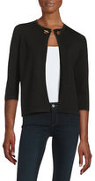 Ivanka Trump Toggle Accented Cardigan