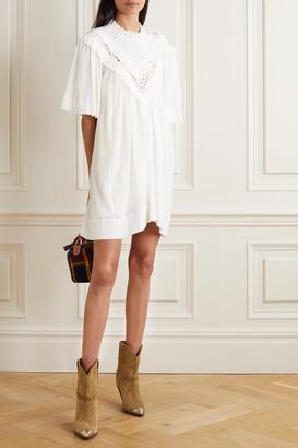 Isabel Marant Etoile - Inalio Ruffled Crinkled Cotton-blend Dress - White