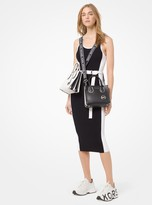 MICHAEL Michael Kors Color-Block Ribbed Knit Dress