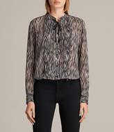 AllSaints Cada Zebra Shirt