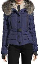 Moncler Beverly Fox Fur Trim Hooded Coat