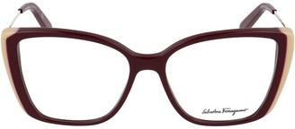 Salvatore Ferragamo Eyewear Square Frame Glasses