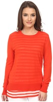 MICHAEL Michael Kors Shirred Double Layer Starp Sweater