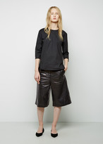 Acne Studios Hunter Paper Wide Leather Shorts