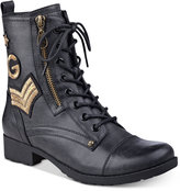 G by Guess Bronson Lace-Up Combat Boots Women's Shoes