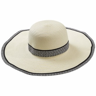 Tickled Pink Women's White Newport Sun Hat ONE Size FITS Mone SizeT