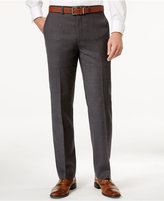 Ryan Seacrest Distinction Men's Slim-Fit Gray Windowpane Pants, Only at Macy's