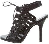 Pour La Victoire Cutout Leather Sandals