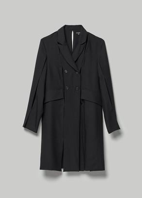 Ann Demeulemeester Women's Long Coat With Slits in Black Size 36