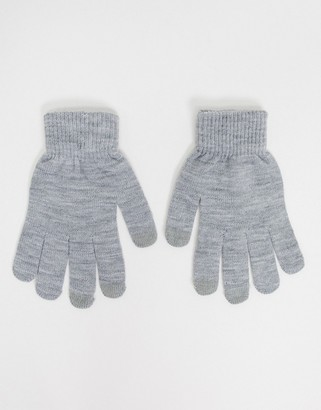 SVNX touch screen gloves in grey marl