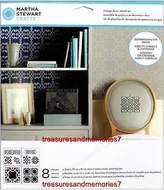 Martha Stewart Crafts Vintage Decor Stencil Set, 4 Sheets, 8 1/2x8 1/2 33556