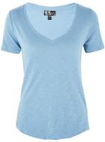 Topshop PETITE Slubby V-Neck T-Shirt