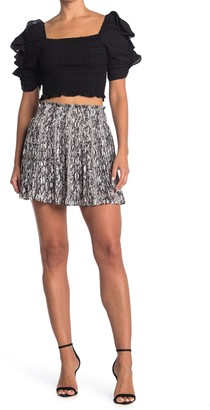 Do & Be Print Pleated Skirt