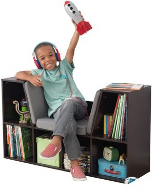 Kid Kraft Bookcase with Reading Nook - White