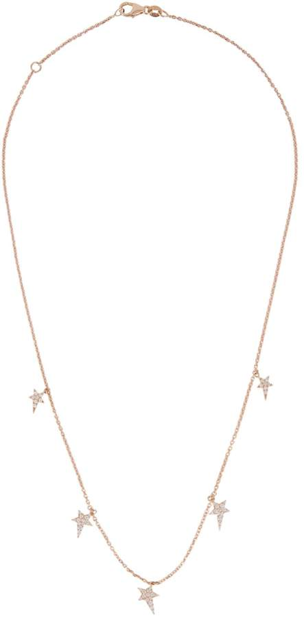 Diane Kordas Rose Gold Star Pendant Necklace