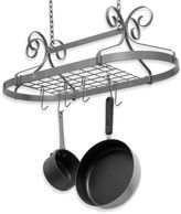 Enclume Decor Hammered Steel Oval Pot Rack