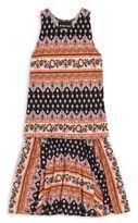 Un Deux Trois Girl's Two-Piece Printed Top & Skirt Set