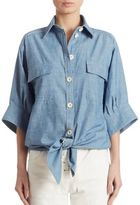 Chloé Chambray Button-Down Shirt