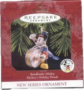 "Hallmark Disney Ornaments Hallmark Keepsake Ornament ""Bandleader Mickey"" Mickey's Holiday Parade 1997 (QXD4022)"
