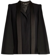 Alexander McQueen Tailored wool and silk-blend cape