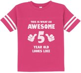 TeeStars This Is What an Awesome 5 Year Old Looks Like Funny Toddler Jersey T-Shirt