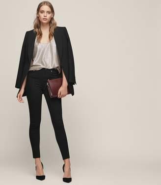 Reiss Stevie - Low Rise Skinny Jeans in Black