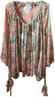 Zimmermann Pink Silk Tops