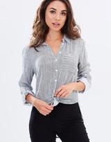 DECJUBA Sorrento Tie Front Shirt