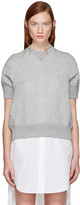 Sacai Grey Panelled Pullover