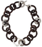 John Hardy Rose Wood Classic Chain Link Necklace