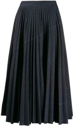 Valentino A-line pleated skirt