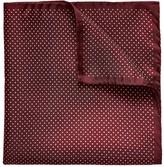 Eton Red Polka Dots Silk Pocket Square