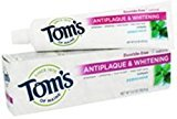 Tom's of Maine Tom's of Main Antiplaque & Whitening Fluoride Free Peppermint Toothpaste 5.50 oz (Pack of 9)