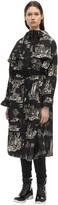 Moncler Bouteille Printed Nylon Trench Coat