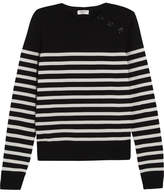 Saint Laurent Striped Wool Sweater - Black