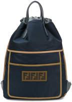 Fendi logo patch backpack