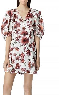 The Kooples Floral Print Short Wrap Dress