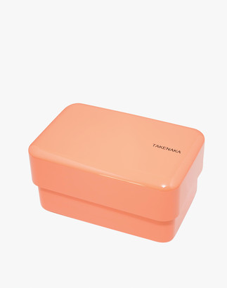 Madewell Takenaka Rectangle Bento Box and Chopsticks in Coral