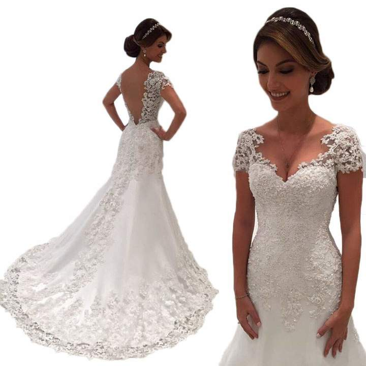 f13ba1dde2b Short Wedding Gowns - ShopStyle Canada