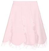 Giambattista Valli Ruffled Cotton-blend Skirt