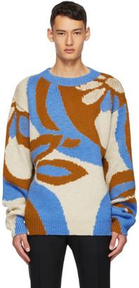Dries Van Noten Blue Wool Sweater