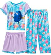 "Disney Pixar Finding Dory ""True Blue Friends"" Toddler Girl 3-pc. Pajama Set"
