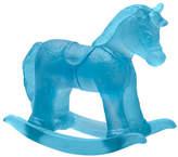 Daum Blue Crystal Rocking Horse