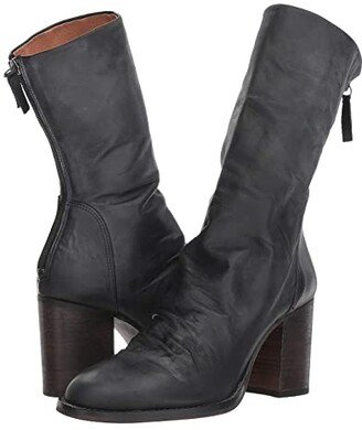 Free People Elle Block Heel Boot (Black) Women's Pull-on Boots