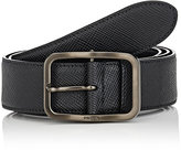 Prada Men's Saffiano Leather Belt-BLACK