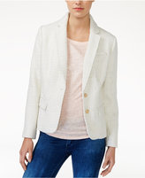 Maison Jules Metallic-Detail Boucle Blazer, Only at Macy's