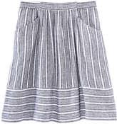Joe Fresh Women's Mix Stripe Skirt, Navy (Size L)