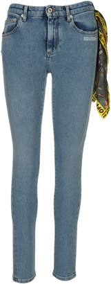 Off-White Bandanna Detail Skinny Jeans
