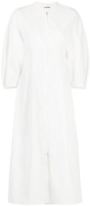 Jil Sander Tulip-Shape Mid-Length Dress